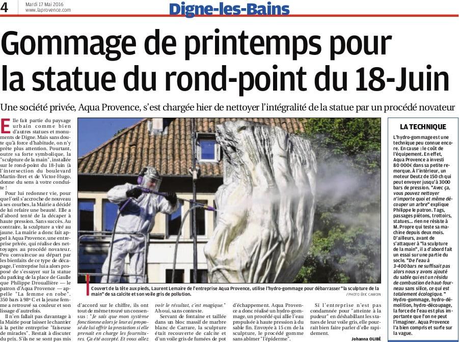 décapage hydrogommage monument historique AQUAPROVENCE Assainissement : vidange fosse septique, débouchage canalisation, Aix-en-Provence, Salon de Provence, Arles, Cavaillon
