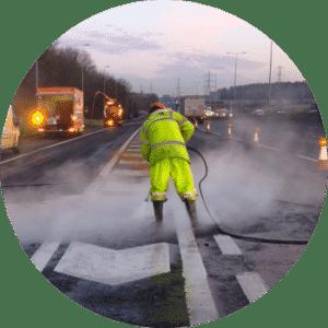 aquaprovence décapage autoroute Aix-en-Provence