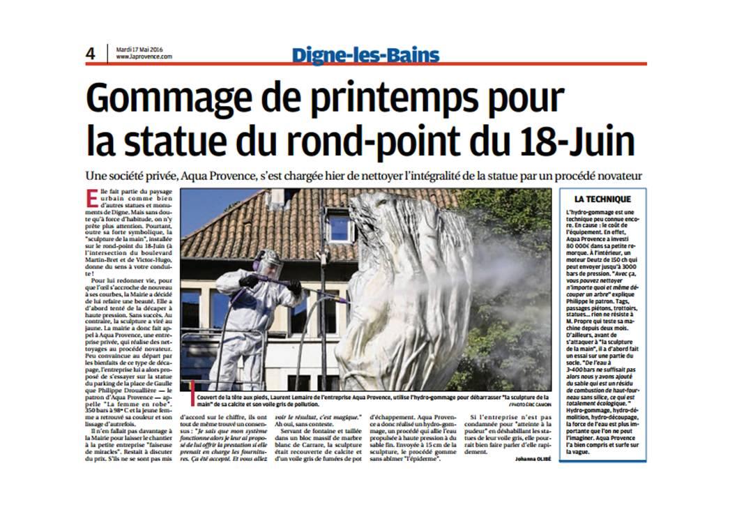 hydrogommage monument historique AQUAPROVENCE Assainissement : vidange fosse septique, débouchage canalisation, recherche de fuite, Salon de Provence, Arles, Cavaillon, Aix-en-Provence
